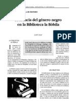Presencia del género negro en la Biblioteca la Bòbila