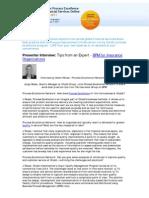 Business Process Management Interview