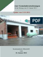 Aus den Eslarner Gemeinderatssitzungen 01.2012