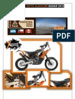 Full Pack Moto Alquiler Dakar 2012