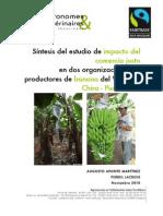 Síntesis del estudio de impacto del comercio justo en dos organizaciones de productores de banano del Valle del Chira - Perú