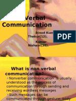 Non Verbal Communication.