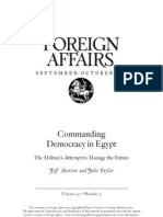 commanding democracy in egypt - foreign affairs