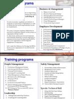 Training Catalog Nov11 Www.rachpro