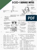 Boss OD-1 Service Notes (+Rev B)