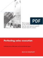 BAIN BRIEF Perfecting Sales Execution