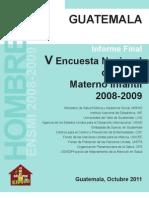 Informe Final de Hombres Ensmi 2008-09 04-11-2011