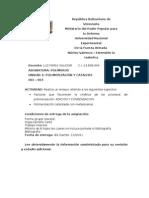 Cinetica Del Proceso de La Polimerizacion ENSAYO