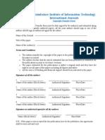 CiiT Copyright Form