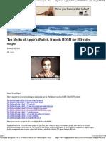 iPad - Ten Myths of Apple's iPad - it needs HDMI output