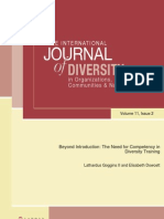 Beyond Introduction:The Need for Competency in Diversity Training