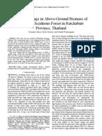 Carbon Storage in Above Ground Biomass_v58-131
