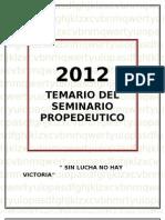 Ultimo Temario de Estudio 2012
