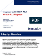 Upgrade Security in Your r12 Upgrade