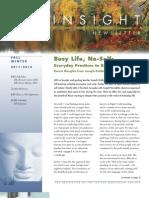 SR-2011 Fall Insight Newsletter