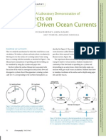 A Laboratory Demonstration of Coriolis Effects on Wind-Driven Ocean Currents