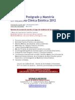 Carrera Postgrado Maestria Medicina Estetica 2012