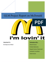 GLM Project on McDonalds India Supply Chain