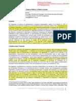 POBREZA, POLÍTICAS PÚBLICAS Y POLITICAS SOCIALES. SATRIANO