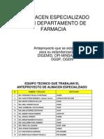 Anteproyecto Del Almacen Hospital