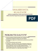 analisis data kualitatif presentase