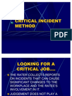 Presn Critical Incident Method