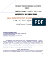 AREAS DE INTERVENCIÓN  PARA NIÑOS DE 0 A 3 AÑOS