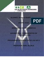 Arturo Romero Badillo 6151 Ejercicios y Problemas Con Diagrama de Flujo