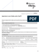 Vitality and Keyfit Application Form