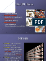 Tinjauan Umum & Klasifikasi Polimer