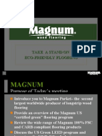 "Magnum Floors Presents "" Flooring for the new $30 Billion Green Market"""