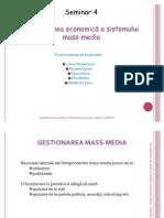 Dimensiunea Economica a Sistemului Mass+Media