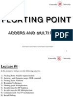 1 Floating Point Adders and Multipliers Adders and Multipliers