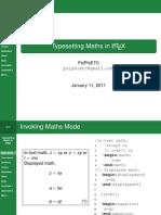 Typesetting Mathematics with LaTeX