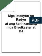 Mga Istasyon Ng Radyo