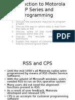 Introduction to Motorola GP Series and Programming