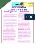 Fifth Grade Newsletter November 2008