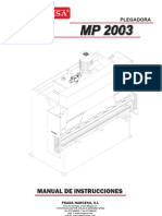 Manual Plegadora Hidraulica MP2003 ESP
