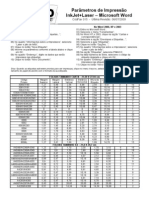 CodFax015 Para Metros de Impressao InkJet Laser Microsoft Word