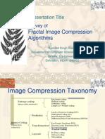 Presentation-Survey of Fractal Image Compression Algorithms