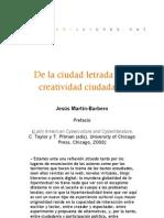 Ciberliteratura latinoamericana - De la ciudad letrada a la creatividad ciudadana (Prólogo)