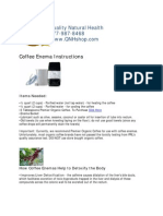Coffee Enema Instructions QNHshop