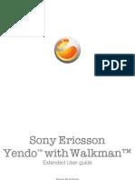 Sony Ericsson Yendo Manual