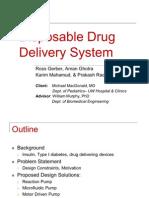 disposable drug delivery system