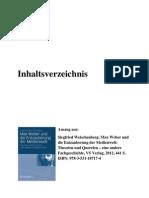 Inhaltsverzeichnis, Auszug aus Siegfried Weischenberg