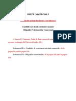 DREPT COMERCIAL - Tema Si Bibliografie Curs 6