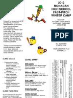 Monacan winter softball camp