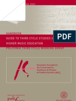 AEC Handbook - Guide to Third Cycle Studies in Higher Music Education - En