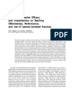 The Role of Teacher Efficacy and Characteristics on Teaching Effectiveness,