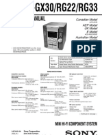 Sony Hcd-gx30, Rg22, Rg33
